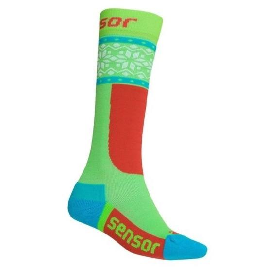 Socken Sensor THERMOSNOW NORWEGEN green white 18200065