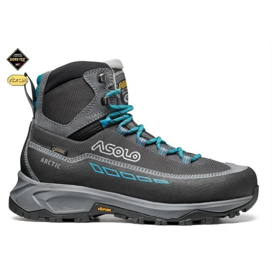 Schuhe Asolo Arctic GV ML grau / rotguss / blau pfau A884
