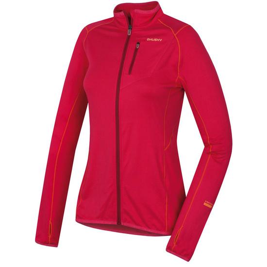 Damen Sweatshirt Husky Tarp Zip L deutlich purpurrot