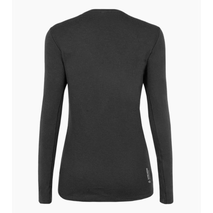 Damen-T-Shirt Salewa Rein logo merino reaktionsschnell lange Ärmel T-Stück verdunkeln 28263-0910