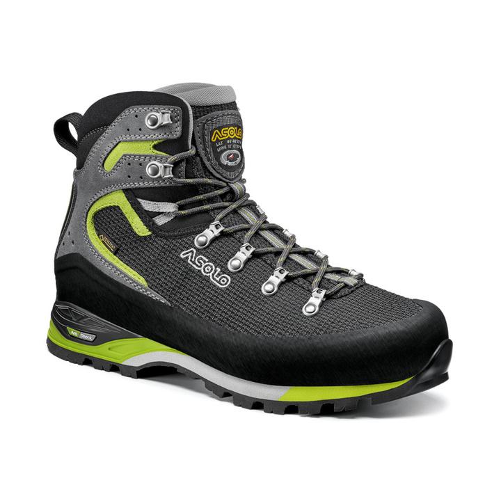 Herren Schuhe Asolo Corax GV Black/Green Lime/A561