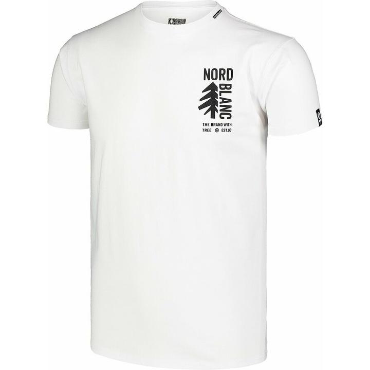 Hemd aus Baumwolle für Männer Nordblanc SARMY Weiß NBSMT7390_BLA