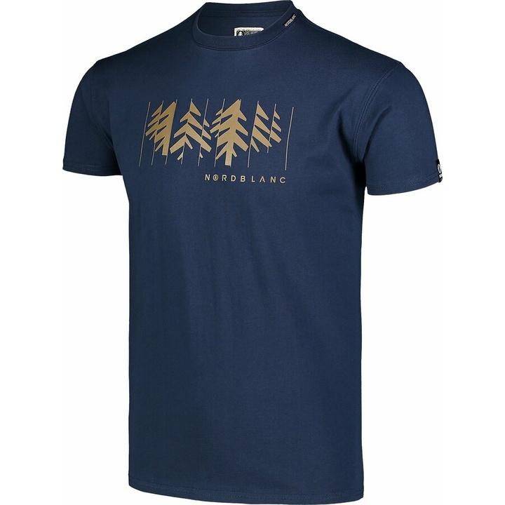Hemd aus Baumwolle für Männer Nordblanc DEKONSTRUKTURIERT Blau NBSMT7398_MOB
