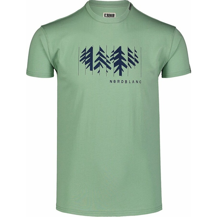 Hemd aus Baumwolle für Männer Nordblanc DEKONSTRUKTURIERT Grün NBSMT7398_PAZ