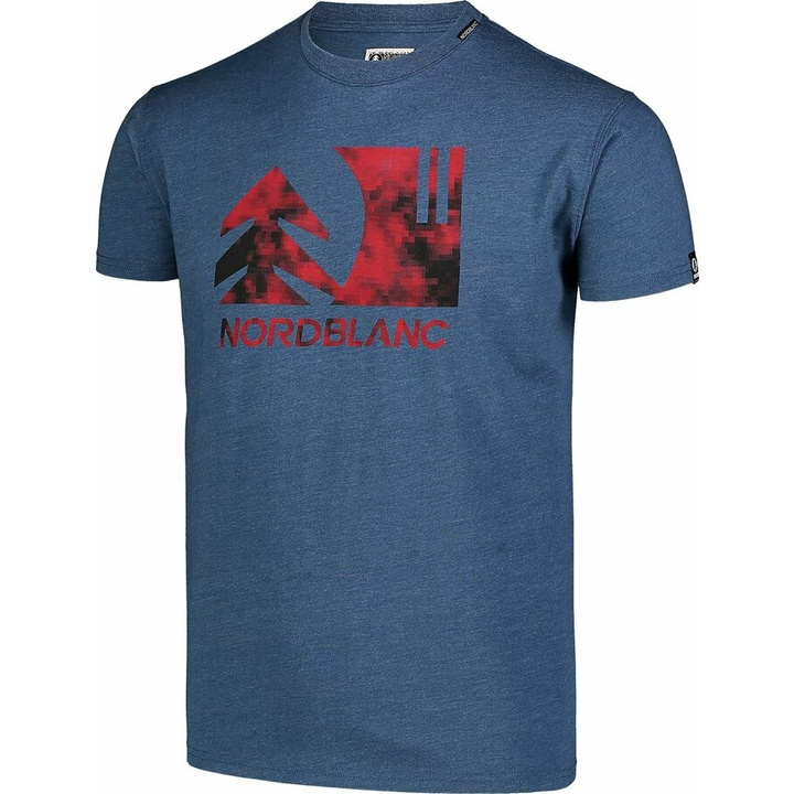 Hemd aus Baumwolle für Männer Nordblanc TREETOP Blau NBSMT7399_SRM