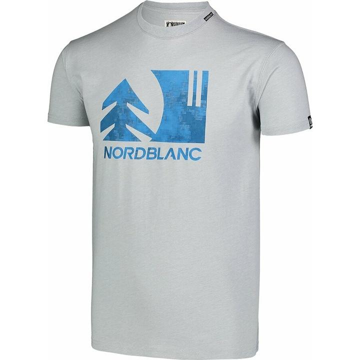 Hemd aus Baumwolle für Männer Nordblanc TREETOP grau NBSMT7399_SSM