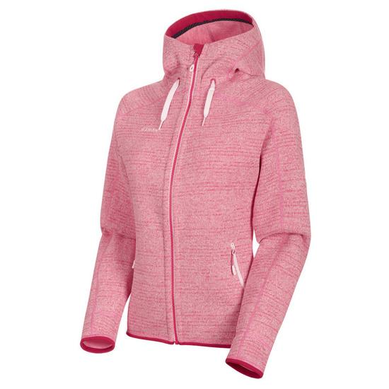 Damen Sweatshirt Mammut Arctic ML Hooded Jacket Women erröten Dragon Fruit Melange 3554 (1014-15703)
