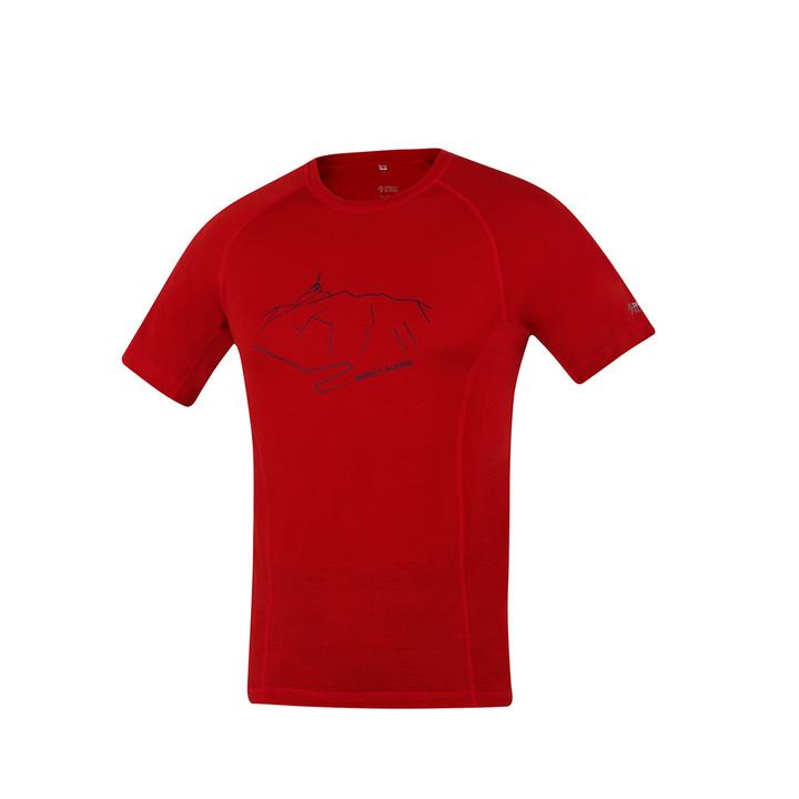 T-Shirt funktionell Direct Alpine pelzig ziegelstein (Peak)