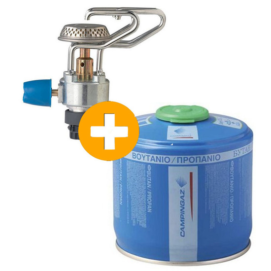 Aktion Set Kocher Campingaz Bleuet Micro Plus + Gaskartusche Campingaz CV 300 Plus