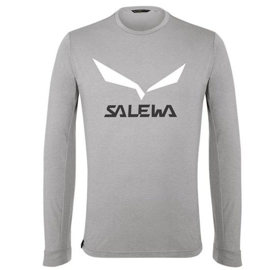 T-Shirt Salewa SOLIDLOGO DRY M L/S TEE 27340-0624