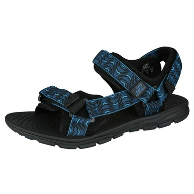 Sandalen HANNAH Füße marokkanisch blau (Welle), Hannah