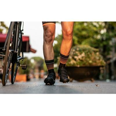 Funktionell Socken Rogelli HERO nicht nur für radfahrer, schwarz-orange 007.905, Rogelli