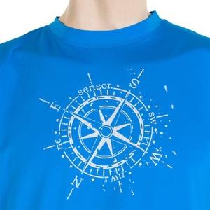 Herren T-Shirt Sensor PT Coolmax Fresh Kompass blue 16200005, Sensor