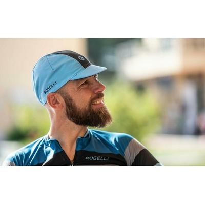 Radsport Cap unter Helm Rogelli RETRO, blau-schwarz 009.968, Rogelli