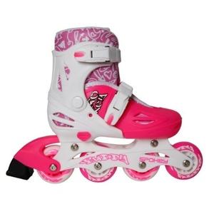 In-line Skates Spokey BUDDY weiß-rosa, Spokey