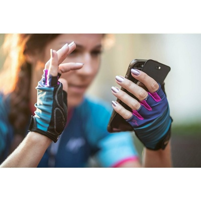Damen Radsport Handschuhe Rogelli IMPRESS, blau-pink 010.600, Rogelli
