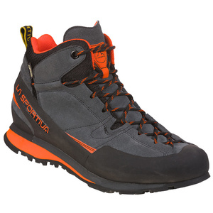 Schuhe La Sportiva Boulder X Mid GTX kohlenstoff / flamme, La Sportiva