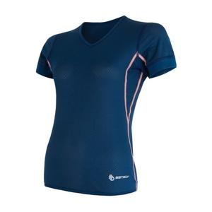 Damen T-Shirt Sensor Coolmax Fresh Air V-Ausschnitt dark  blue 17100023, Sensor