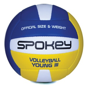 Volleyball Ball Spokey YOUNG III blau und gelb vel.4, Spokey