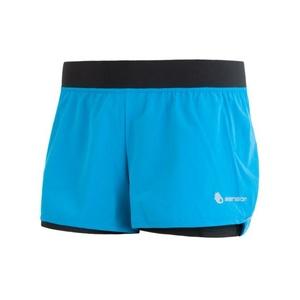 Damen Lauf Shorts Sensor TRAIL blau/schwarz 17100109, Sensor