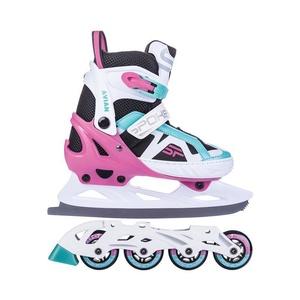 Skates Winter I Sommer Spokey AVIAN geregelt, weiß-rosa, Spokey
