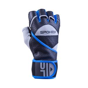 Fitness Handschuhe Spokey Stulpenhandschuh II schwarz/blau, Spokey