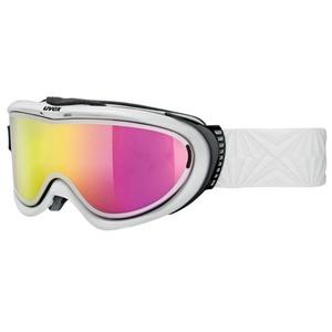 Ski Brille Uvex COMANCHE Take off pola, weiß / litemirror Pink (1026), Uvex