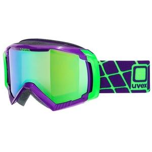 Ski Brille Uvex G.GL 100, Dark lila / litemirror green (9926), Uvex