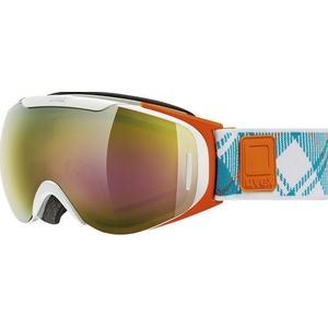 Ski Brille Uvex G.GL 9 RECON READY, weiß-orange double linsen- / litemirror Gold (1126), Uvex
