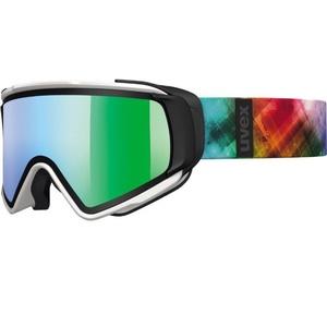 Ski Brille Uvex Jakki TAKE OFF, white mat / litemirror green (1226), Uvex
