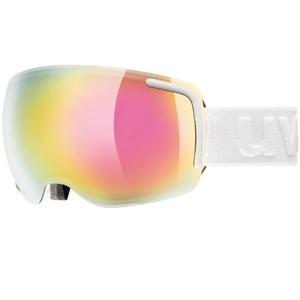 Ski Brille Uvex BIG 40 FM, white Mat double objektiv / full Spiegel Pink (1026), Uvex