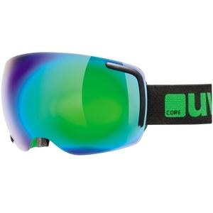 Ski Brille Uvex BIG BIG 40 FM, schwarz/grün Mat double objektiv / full Spiegel green (2726), Uvex