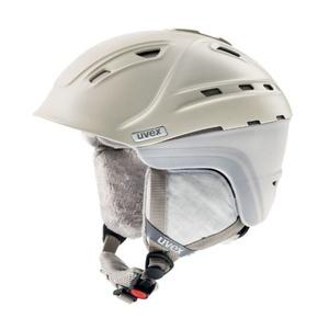 Ski Helm UVEX P2US WL, creme / grau Mat (S566178150*), Uvex