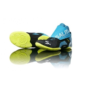Schuhe Salming Slide 5 Goalie Shoe Cyan / Schwarz, Salming