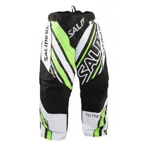 Torwart Hose Salming Phoenix Goalie Pant JUNIOR Weiß / GeckoGreen, Salming