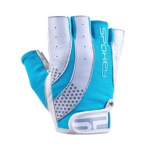 Damen Fitness Handschuhe Spokey ZOE II weiß und türkis, Spokey