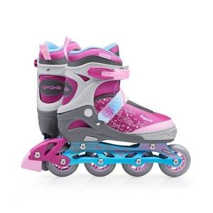 In-line Skates Spokey SNAP grau-pink, Spokey