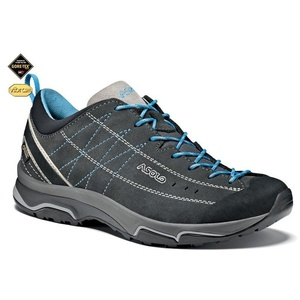 Schuhe Asolo Nukleon GV ML graphit / silber / cyan blue/A772, Asolo