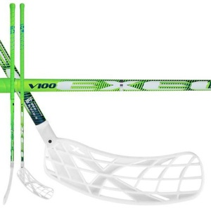 Floorball Stock Exel V100 2.6 green 103 ROUND X-Blades MB, Exel