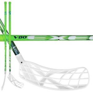 Floorball Stock V80 2.6 green 101 OVAL X-Blades MB, Exel