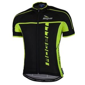 Ultraleicht Radsport Dress Rogelli UMBRIA 2.0 mit kurz Ärmeln, schwarz-reflektierende gelb 001.247., Rogelli