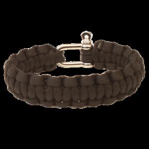 Armband HIGHLANDER Paracord metall schnalle / schwarz, Highlander