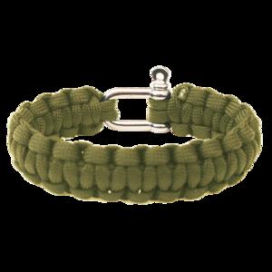 Armband HIGHLANDER Paracord metall schnalle / olive, Highlander