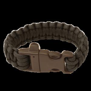 Armband HIGHLANDER Paracord dreizack / pfiff / schwarz, Highlander