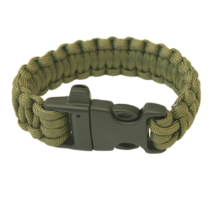 Armband HIGHLANDER Paracord dreizack / pfeife / olive, Highlander