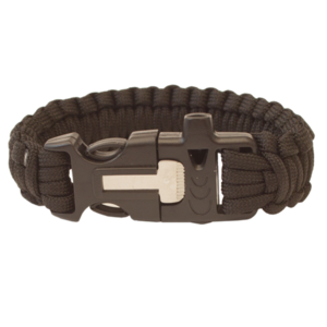 Armband HIGHLANDER Paracord dreizack / pfeife / halstuch / schwarz, Highlander