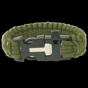 Armband HIGHLANDER Paracord dreizack / pfeife / halstuch / olive, Highlander