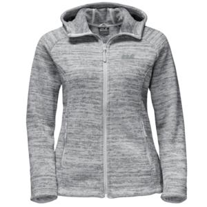 Sweatshirt JACK WOLFSKIN Aquila Hooded Jacket Women grey, Jack Wolfskin