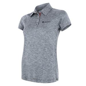 Damen T-Shirt Sensor MOTION Polo Kurzarm grey, Sensor