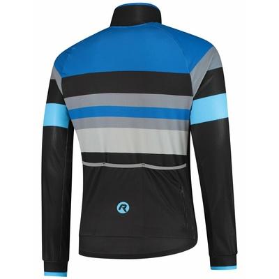 Ultraleichter Radsport Jacke Rogelli PEAK, schwarz-blau-grau 003.035, Rogelli